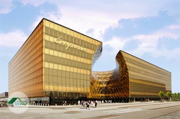طراحی نمای شیشهای ساختمان امپوریا