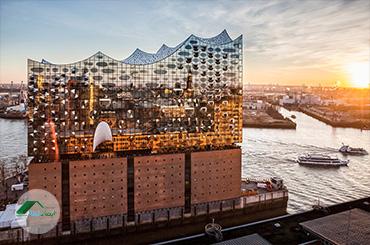 طراحی و معماری نمای ساختمان الب فیل هارمونی هامبورگ
